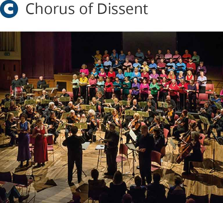 Dona Nobis Pacem - Chorus of Dissent singing at the Town Hall