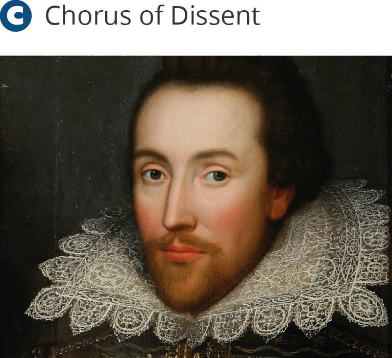 Dissenters events - Shakespeare Solace