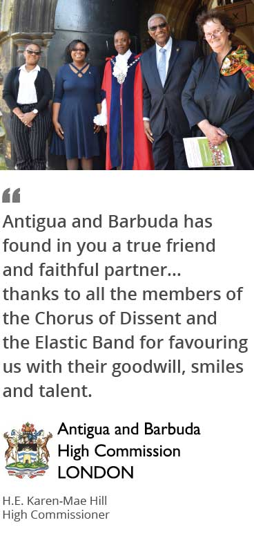 Thank you letter from Antigua and Barbuda High Commissioner