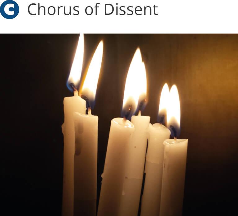 Christmas carols candles