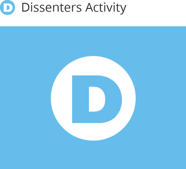 Dissenters Activity example