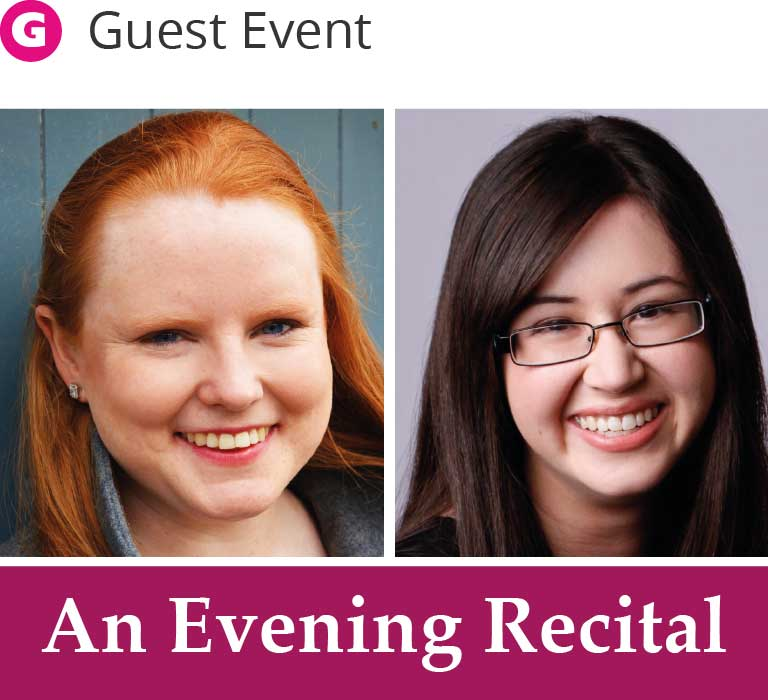 An evening recital - Harriet Burns and Krystal Tunnicliffe
