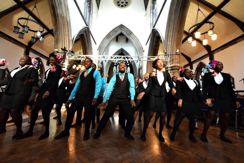 Antigua and Barbuda youth choir singing at St Matthias Church London N16