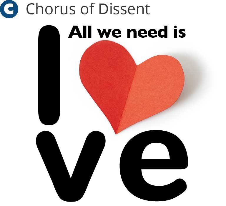 All we need is love graphic