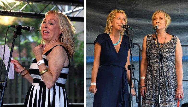 Fran Isherwood and Gaga Ladies performing at Stokebourne