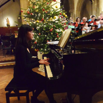 Pianist Krystal Tunnicliffe, Chorus of Dissent's Carols by Candlelight